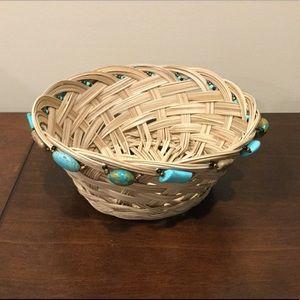 NWT Artisan Made Beaded Basket 🧺